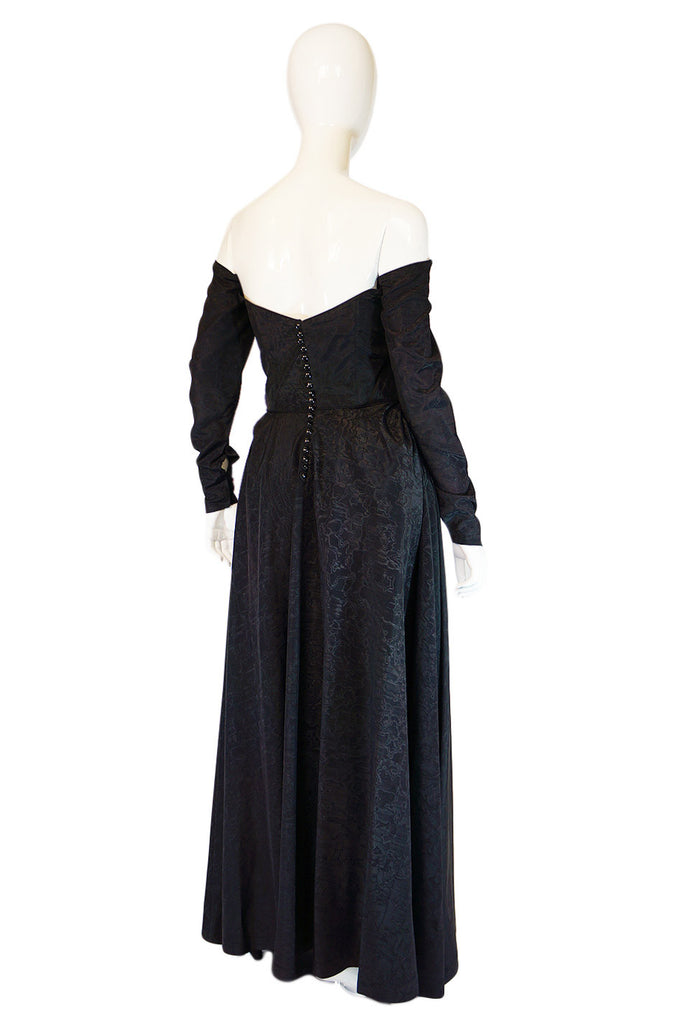 1950s Early Ceil Chapman Bustle Gown