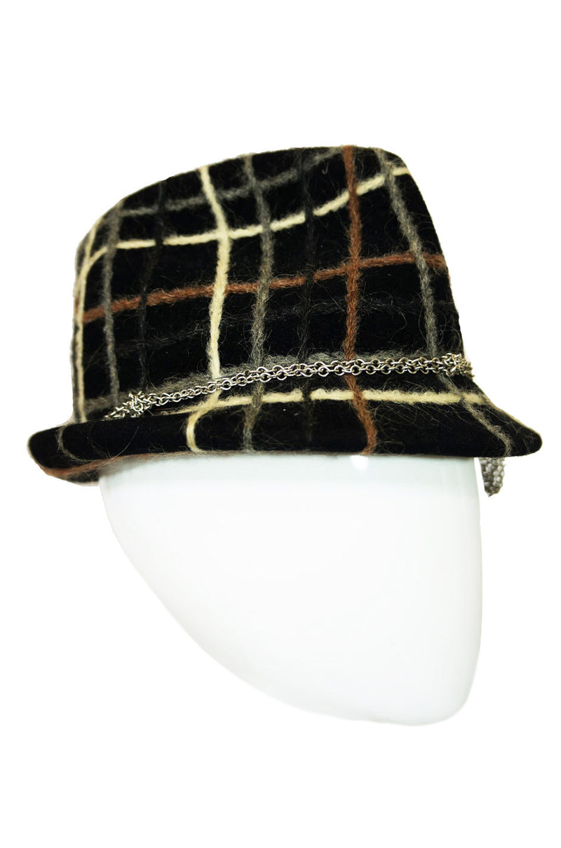 1970s YSL Fedora with Chain Detail