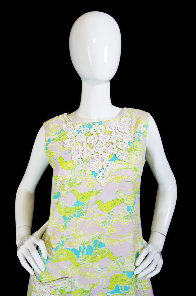 1960s Lilli Pulitzer Pocket Detail Dress