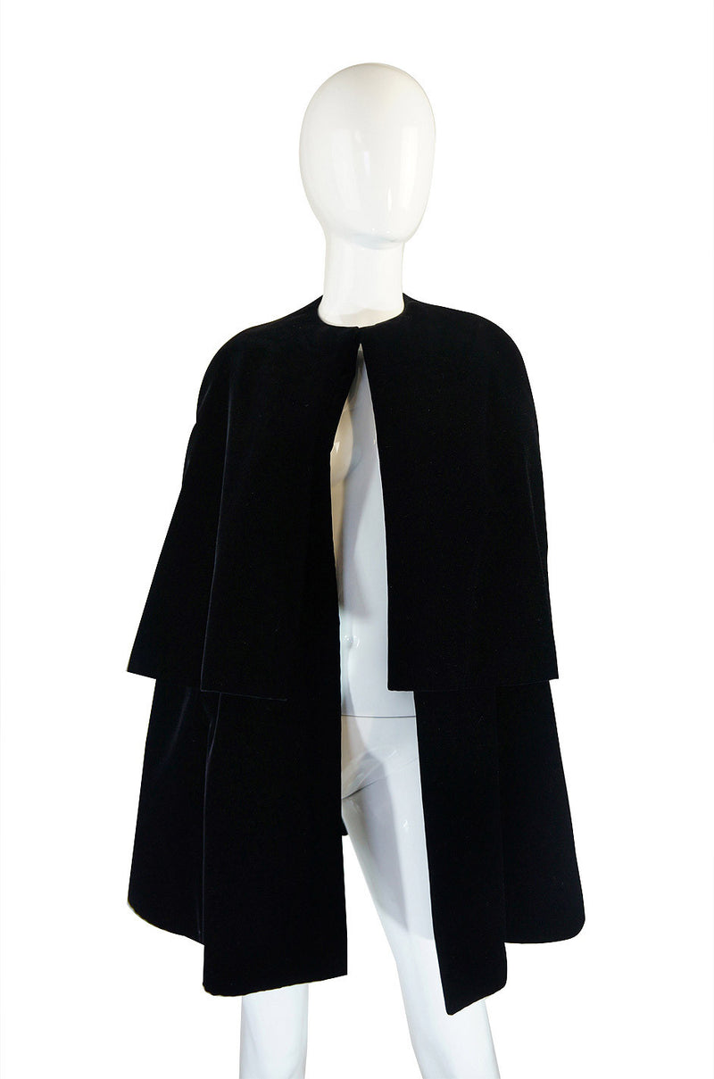 1967 Couture Christian Dior Velvet Cape