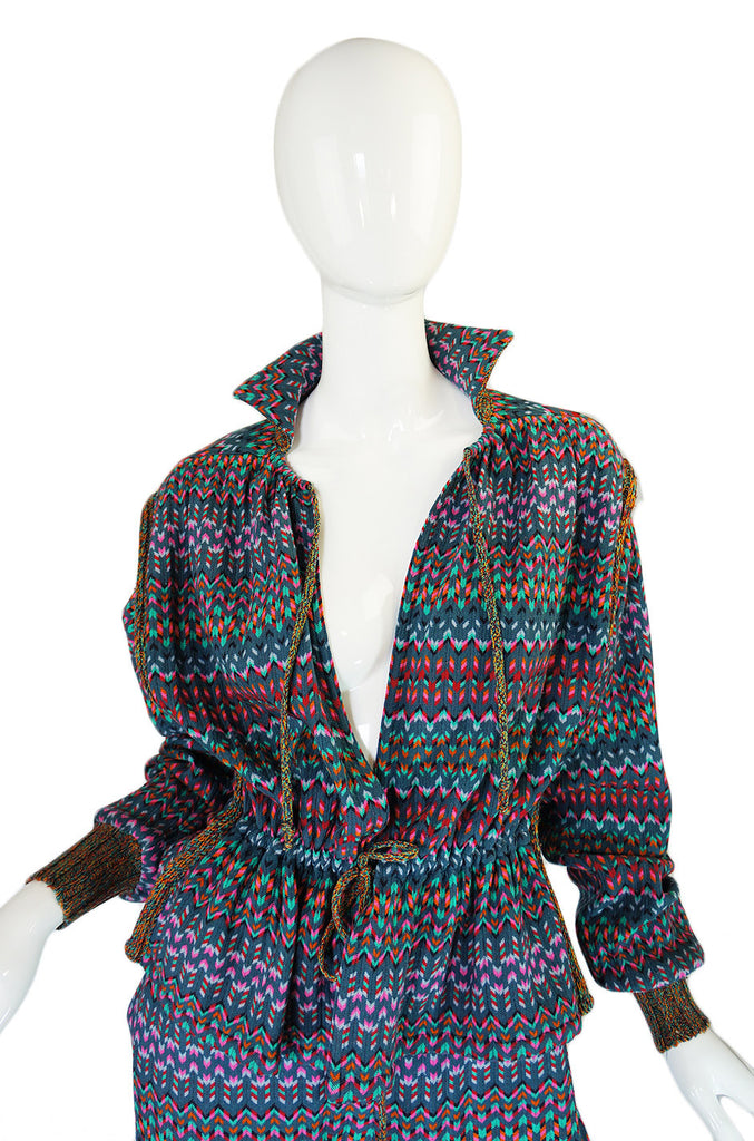1970s Missoni Knit Jacket & Culotte Set