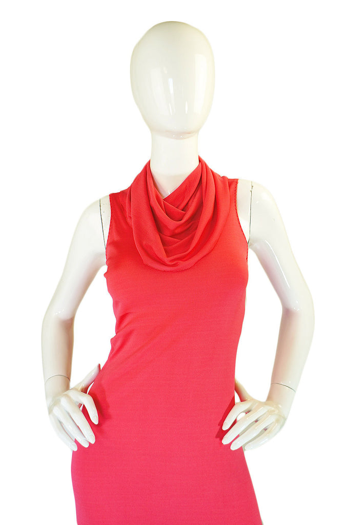 2002 Stephen Burrows Coral Maxi Dress