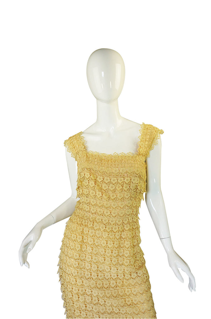 1950s Edith Small Lace Cocktail Dress