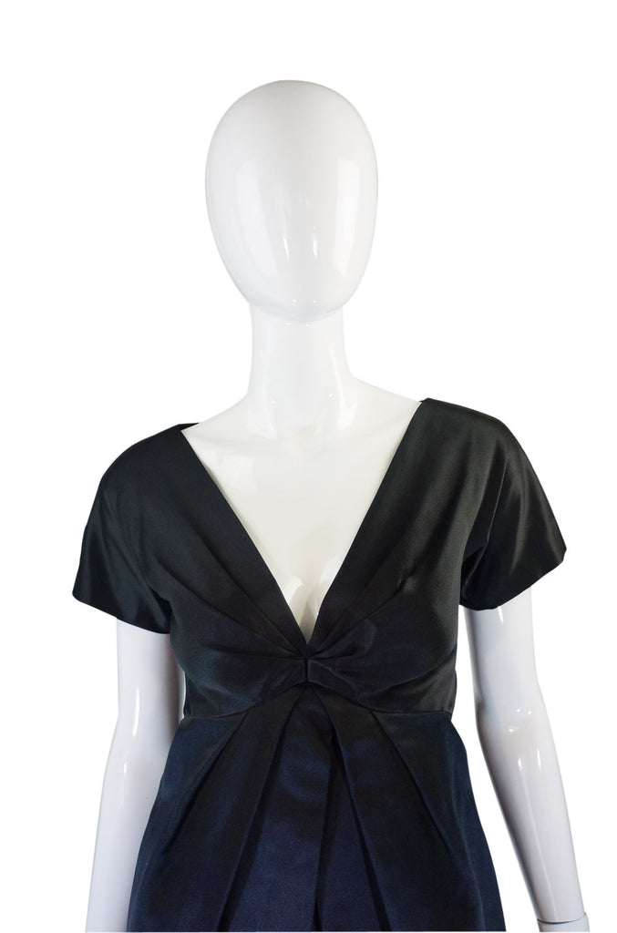2009 Alexander McQueen Silk Satin Dress