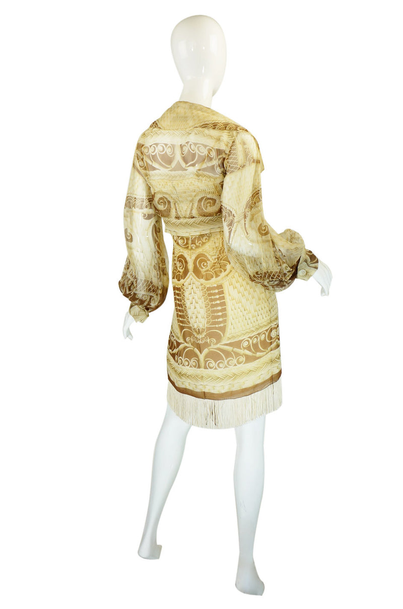 1980s Dior Numbered Raffia Dress Set