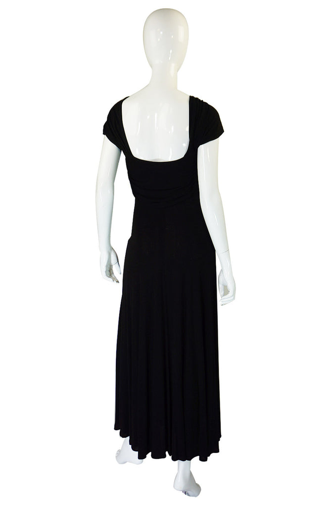 1970s Bias Cut Jean Muir Jersey Halter Dress