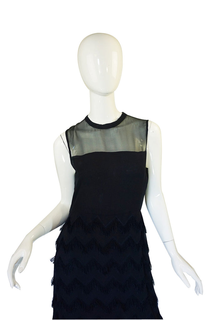 1980s Bill Blass Silk Chiffon Dress