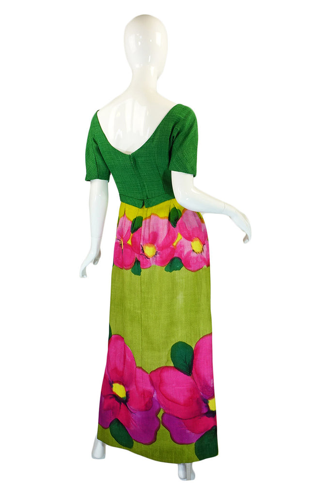 Rare 1959 Philip Hulitar Floral Gown