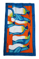 2005 Hermes Beach Towel With Penquins