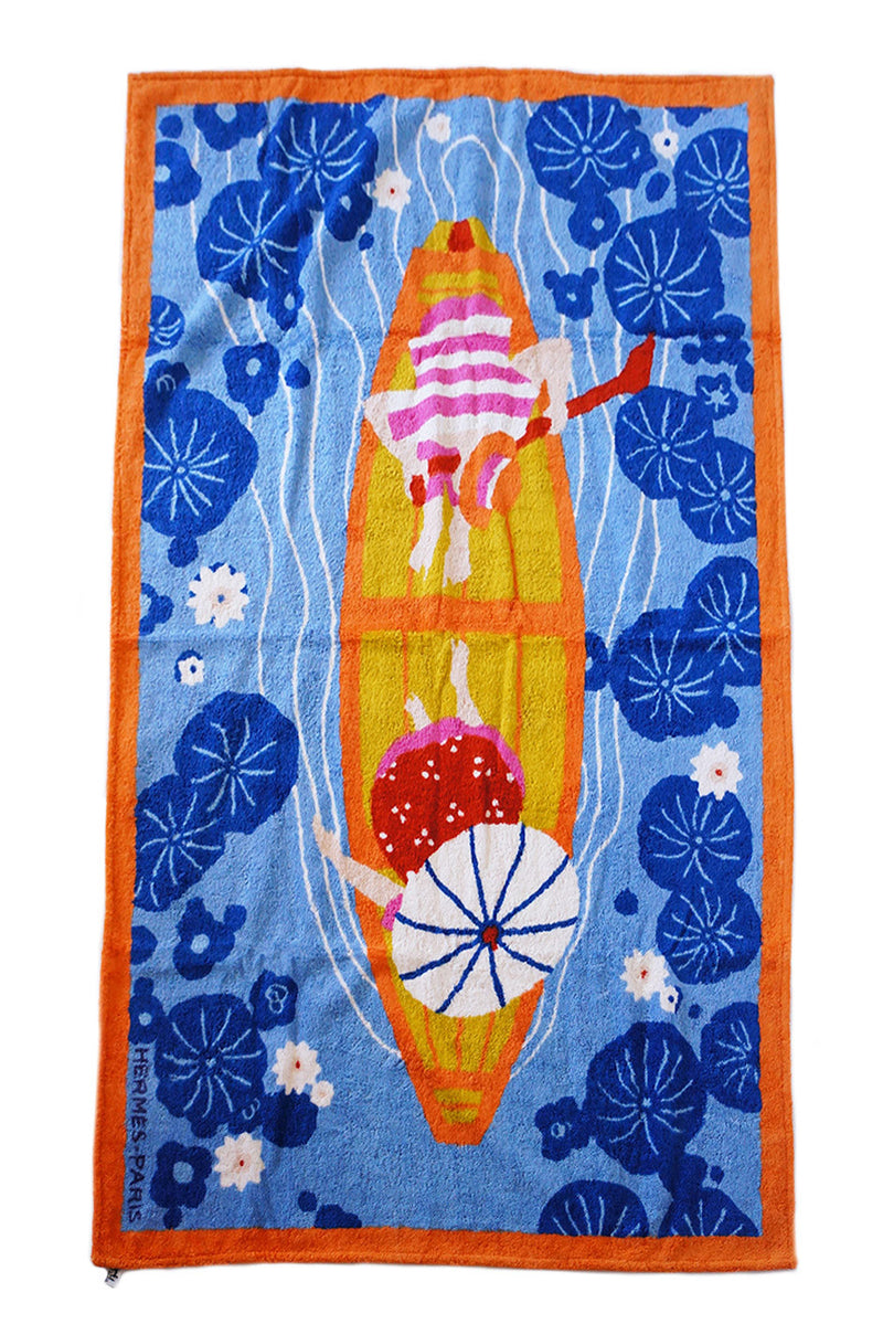 2005 Hermes Beach Towel With Boat