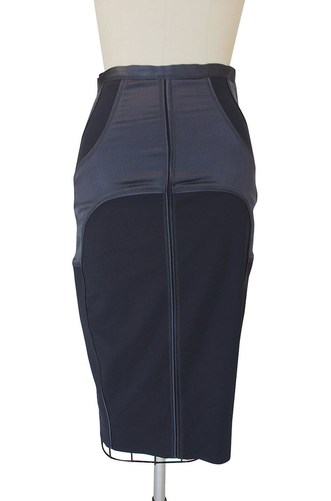 Tom Ford for Gucci Grey-Blue Fitted Skirt