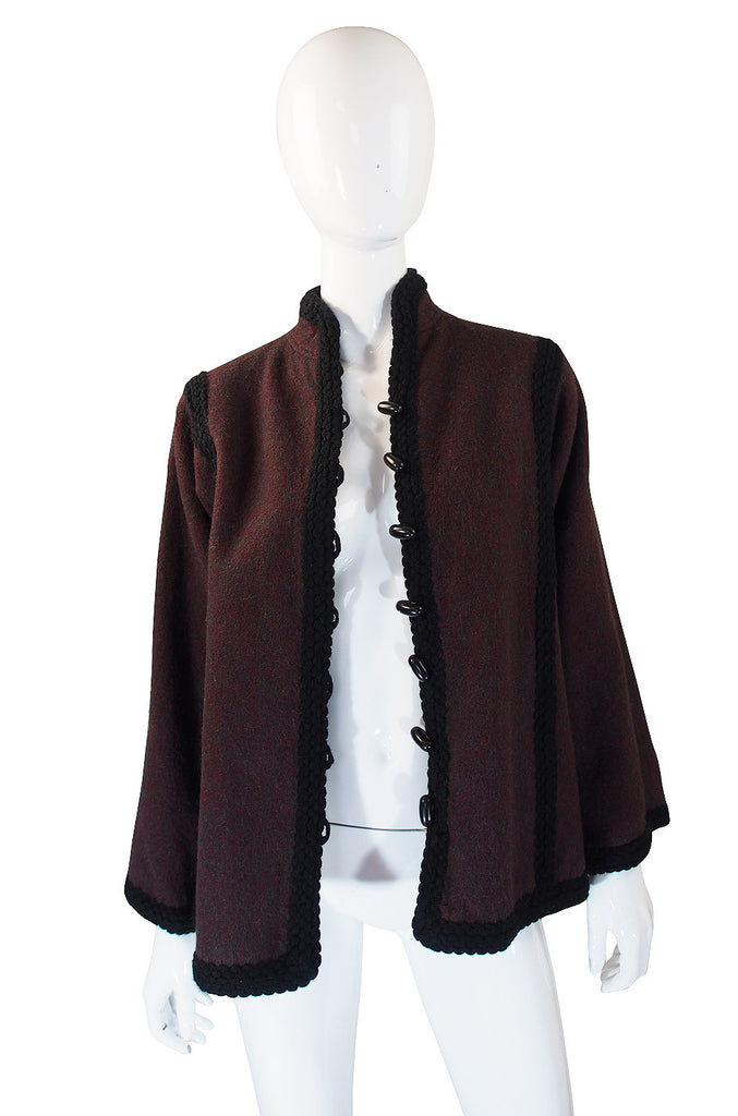 1970s YSL Russian Wool Braid Jacket