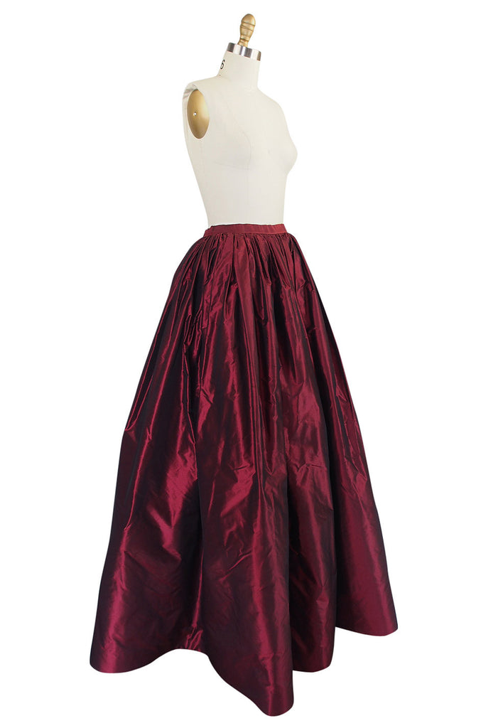 1980s Oscar De La Renta Silk Ball Gown Skirt