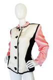 1988 Yves Saint Laurent Pink Color Block Jacket