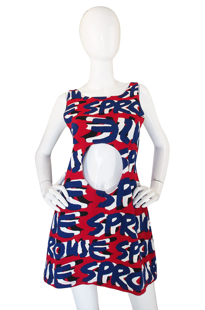 2002 Steven Sprouse Cut Out T-Shirt Dress