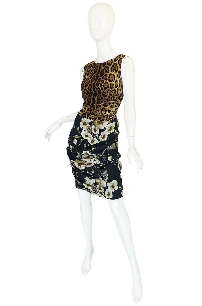 Recent Dolce & Gabbana Floral and Leopard Print Dress
