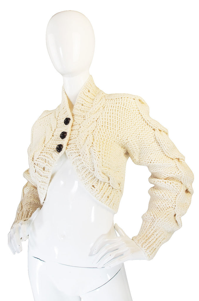 F2005 RTW Alexander McQueen Cable Knit Sweater