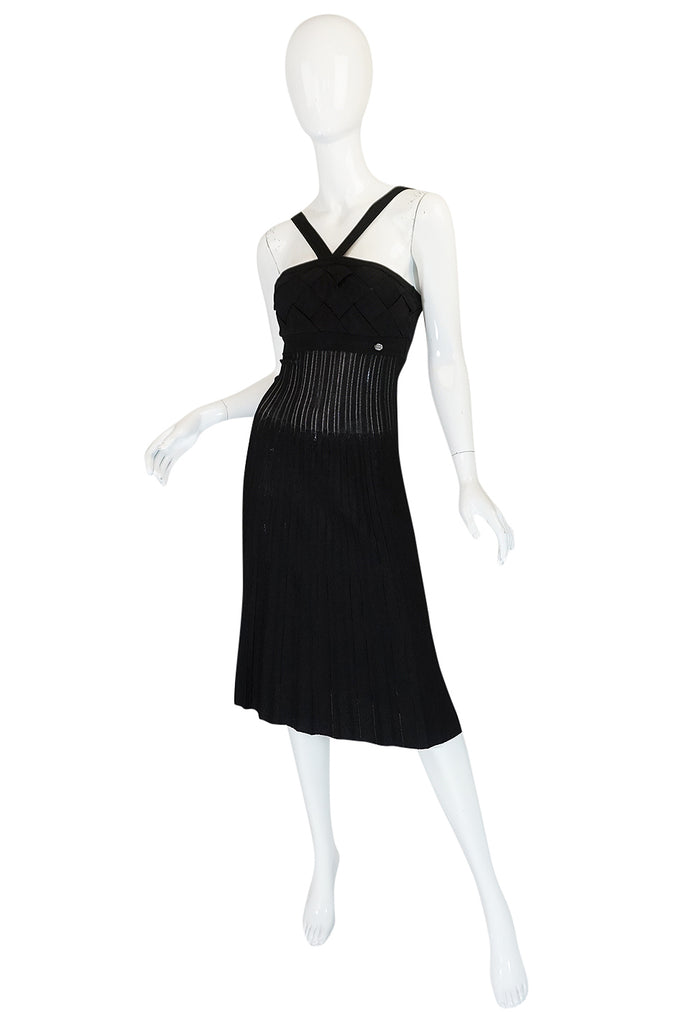 2008C Chanel Resort Runway Knit Bandage Halter Top Dress