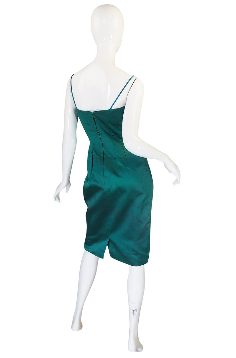1950s Green Sculptural Lilli Diamond Dress & Jacket