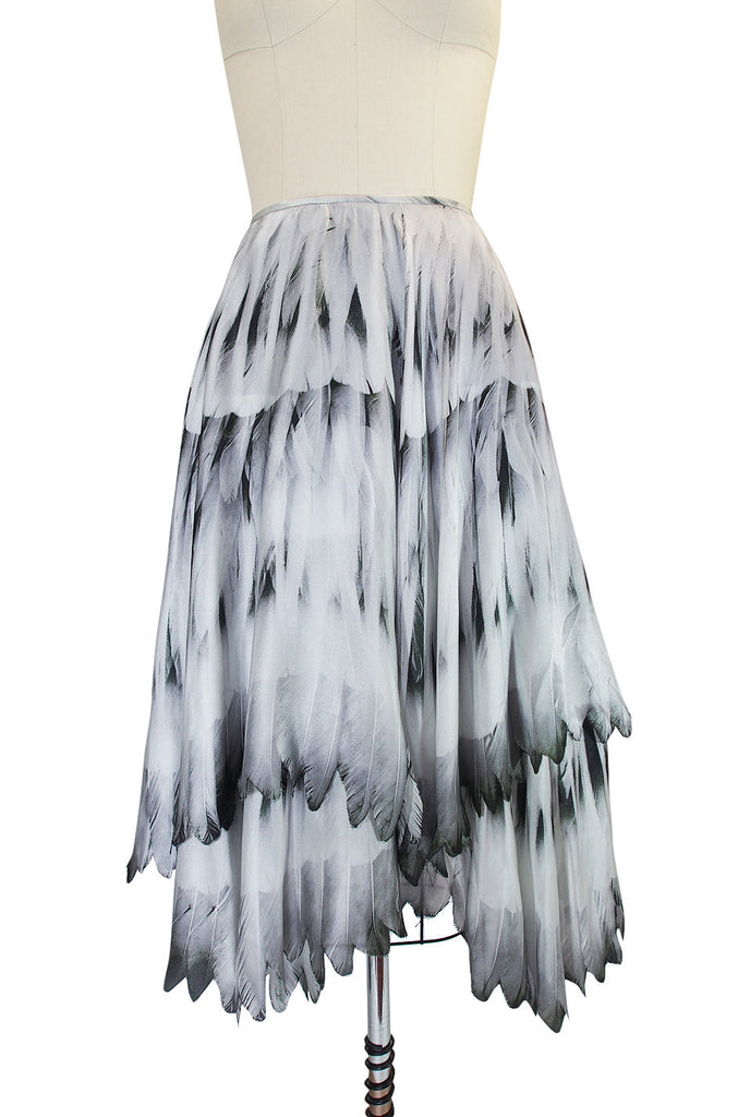Recent Feather Print Alexander McQueen Skirt