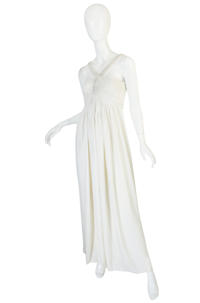 Treasure Piece - 1930s Cream Beaded Silk Crepe Dress