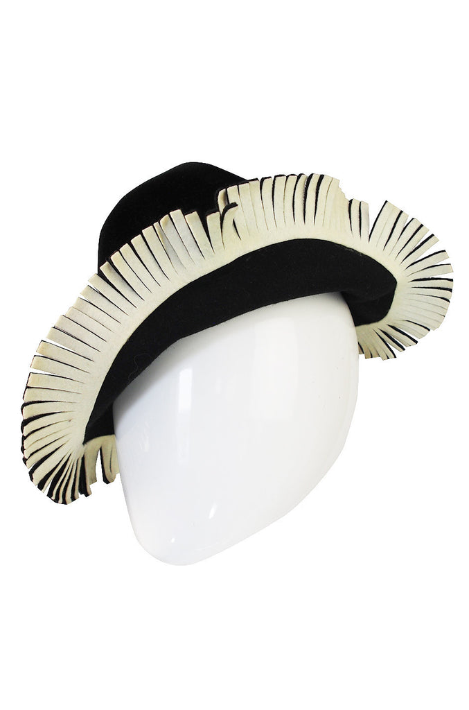 1970s Fringed Yves Saint Laurent Hat