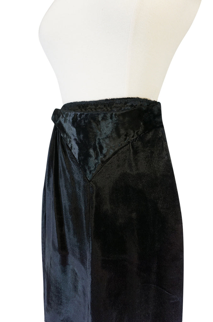 c1969 Astrid Lundstrom's Mr Freedom Velvet Applique Skirt