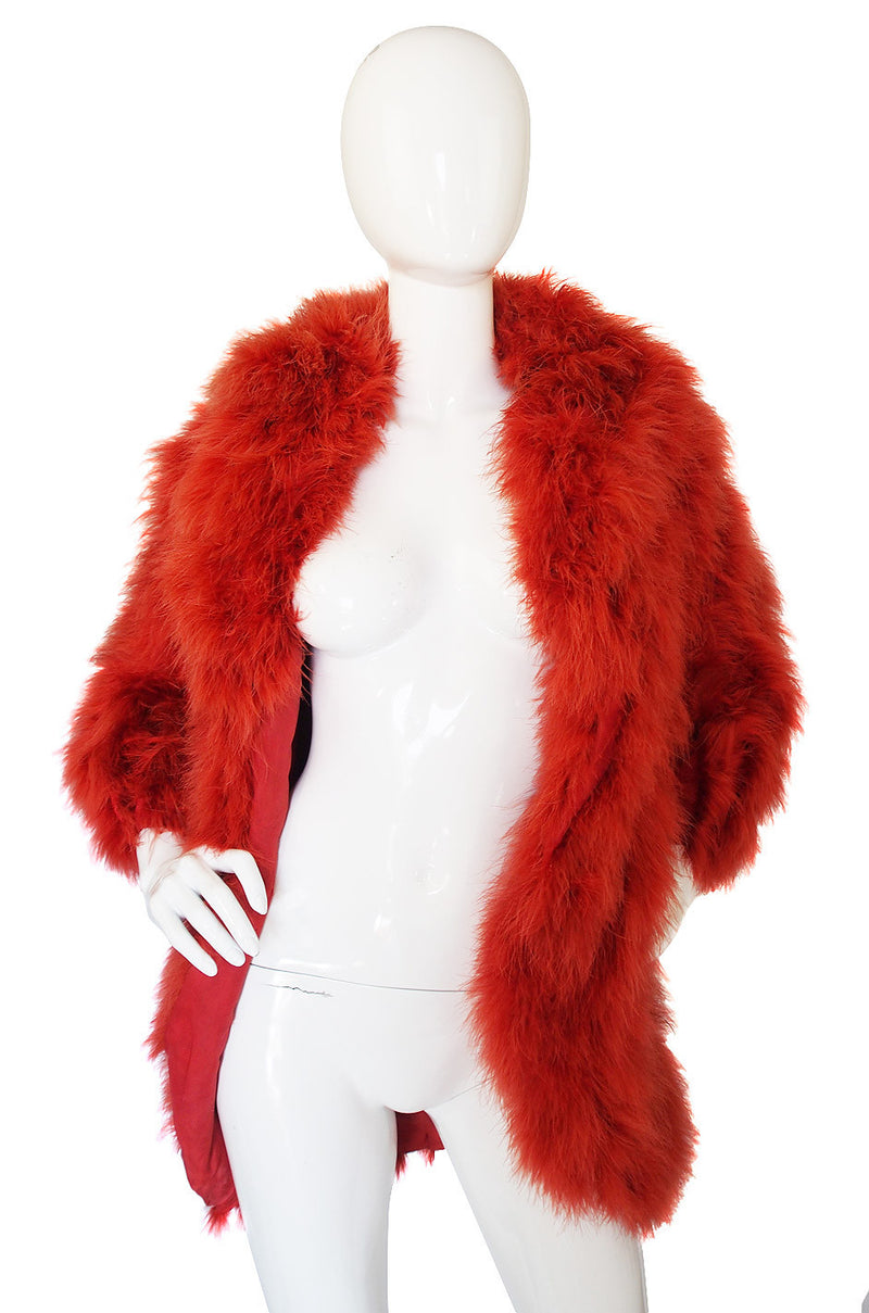 1970s Miss Dior Rare Feather Coat