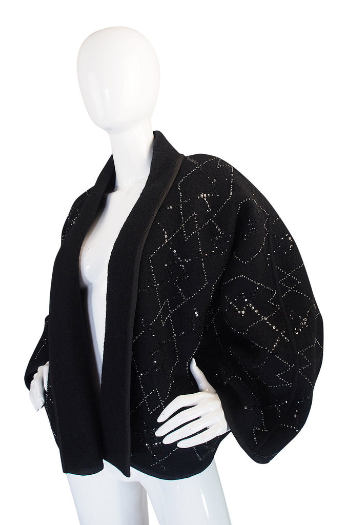 1970s Sequin Wool Yves Saint Laurent Jacket