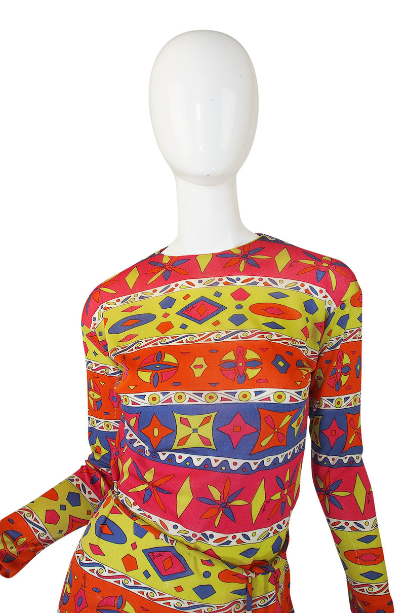 1960s Silk Jersey Pucci with Crystal Coppola Belt