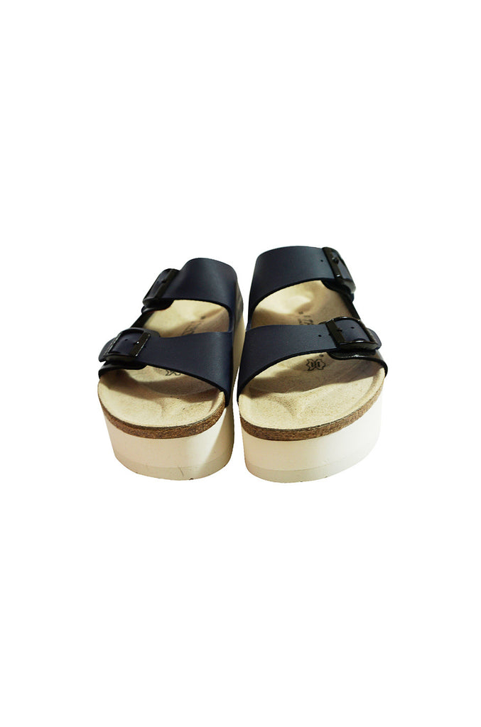 Limited Edition Navy Sacai Stacked Birkenstocks