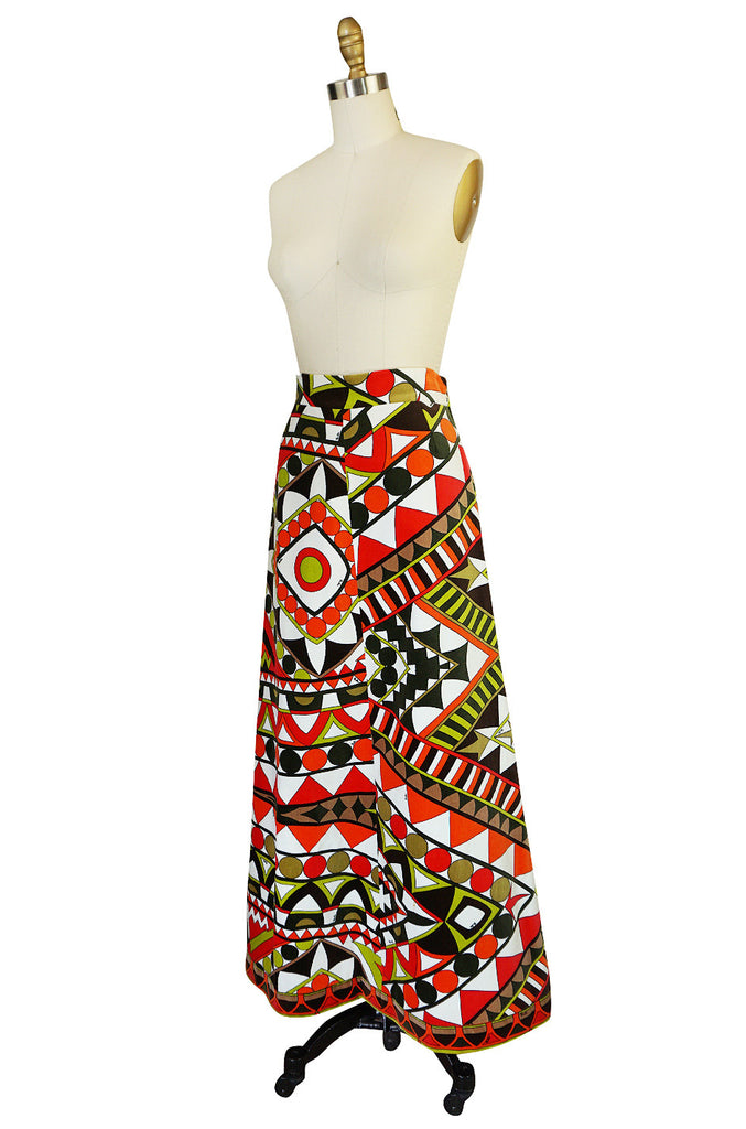Beautiful 1960s Velvet Emilio Pucci Maxi Skirt