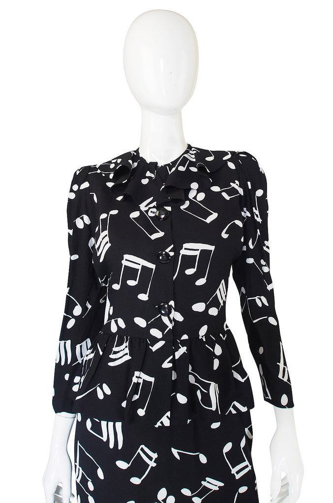 F/W 1982 Yves Saint Laurent Musical Note Set