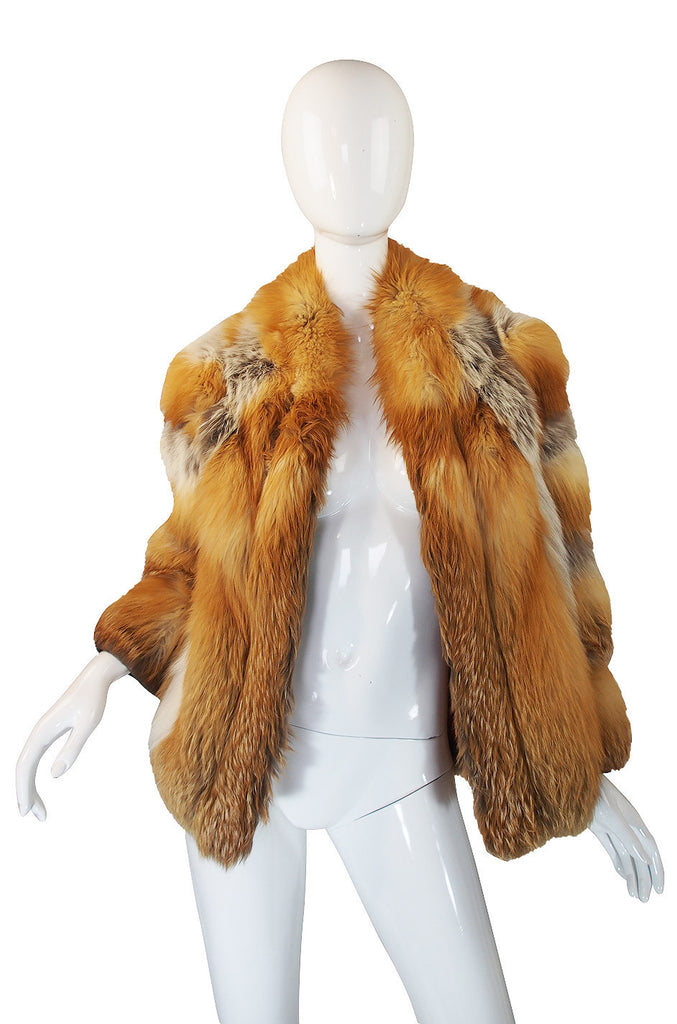 1970s Red Fox & Leather Jacket