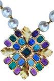 1971 William de Lillo Poured Glass Pendant Necklace