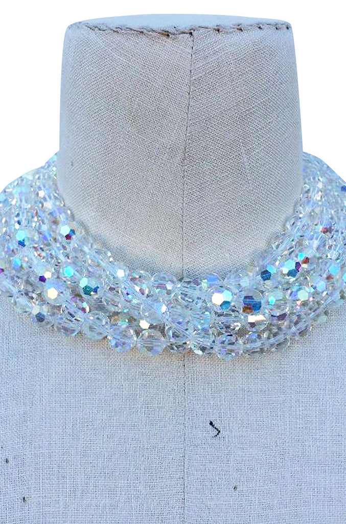 1989 Chanel Crystal Torsade Necklace