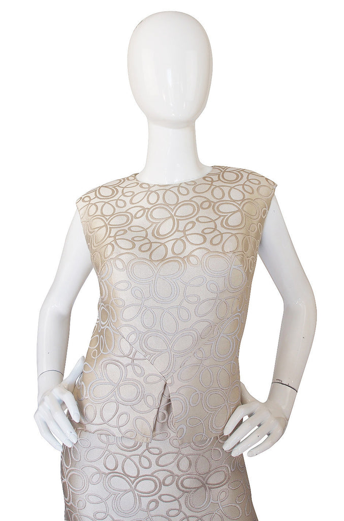 1960s Bill Blass Cream Shell & Shift Dress