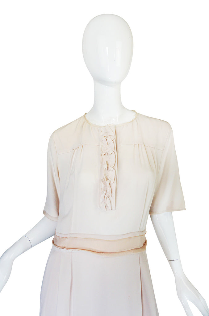 Now On Sale - Early 2000s Blush Cream Silk Chloe Dress