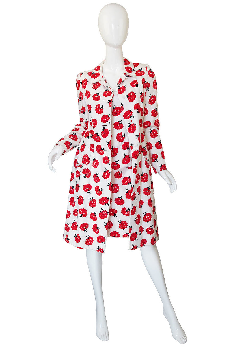 Early 1990s Carolina Herrera Sample Dress & Coat