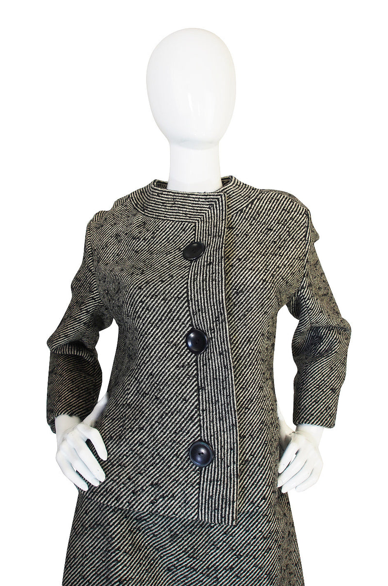 1960s Chic Larger Christian Dior Numbered Suit