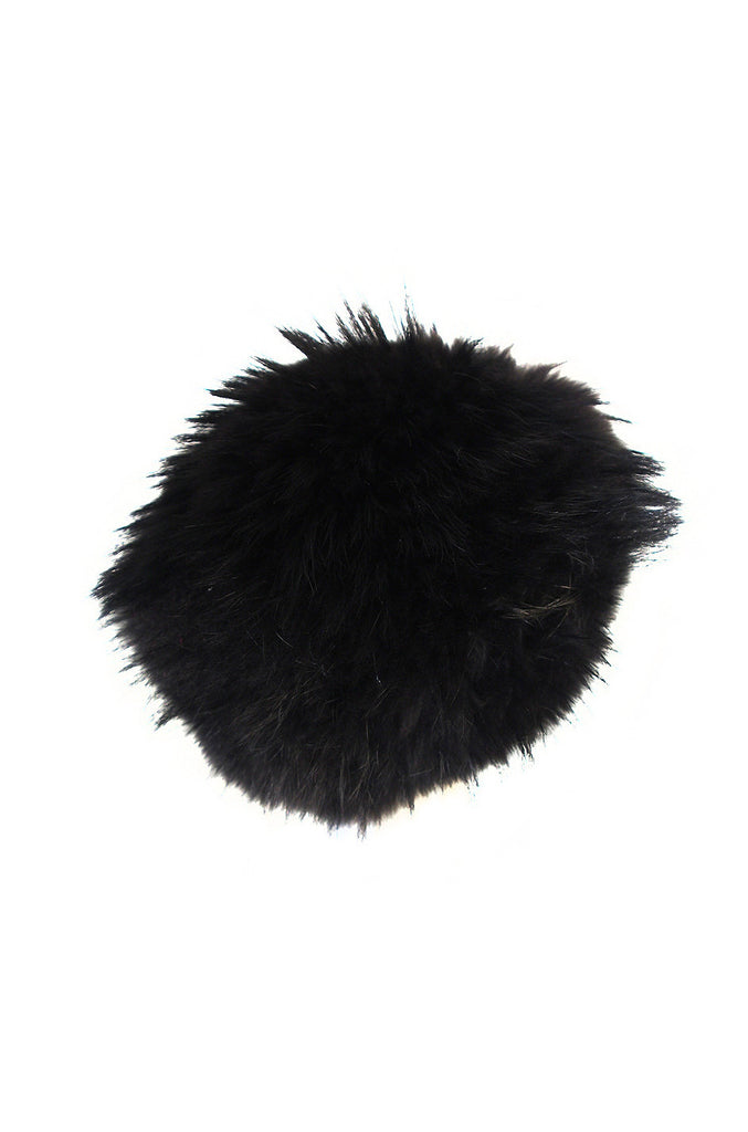 1990s Statement Making Burberry Black Fur Hat