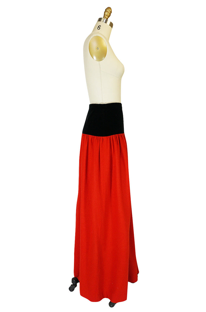 1976-77 Yves Saint Laurent Red Russian Collection Skirt