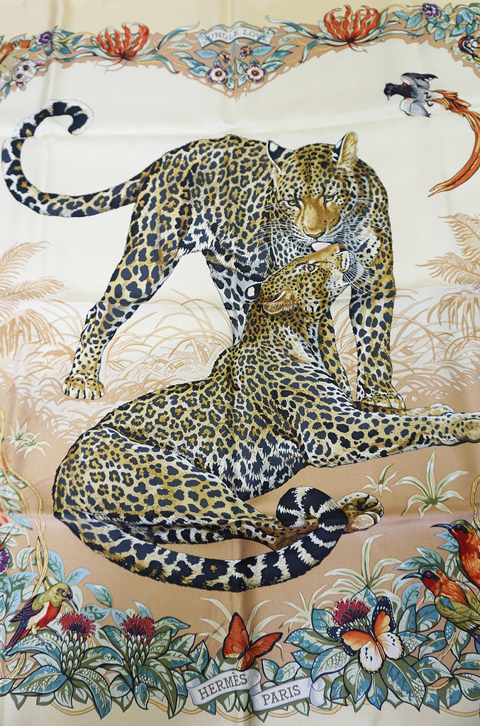 "c2000 Hermes Silk Scarf ""Jungle Love"" by Robert Dallet"