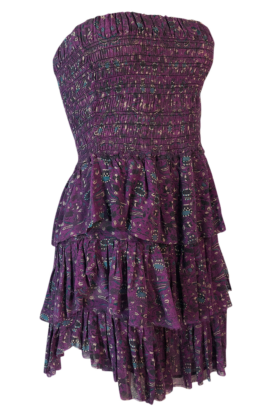 d195142fc21875 ... S S 2011 Isabel Marant Strapless Purple Print Runway Dress Look 3 ...