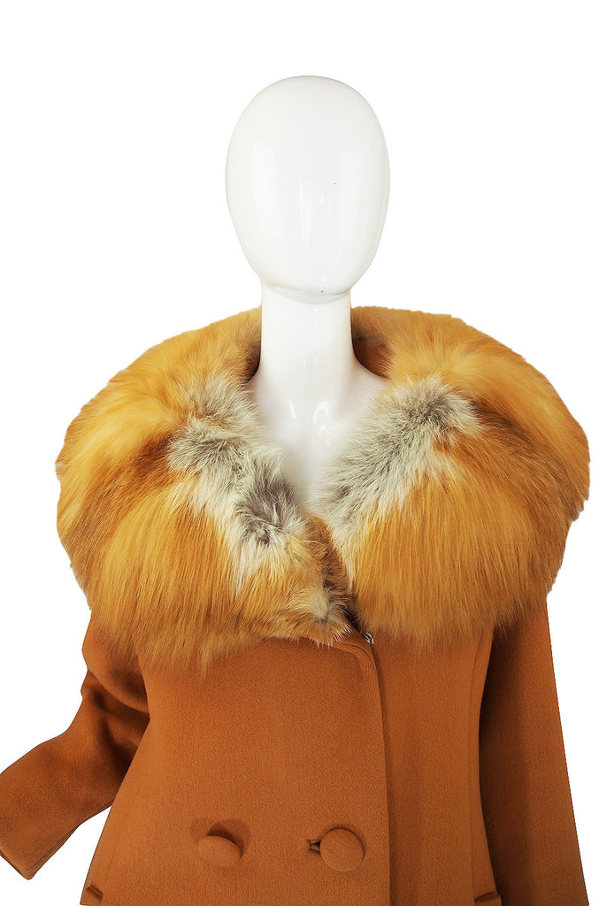 1950s Fur Collar & Wool Lilli Ann Coat