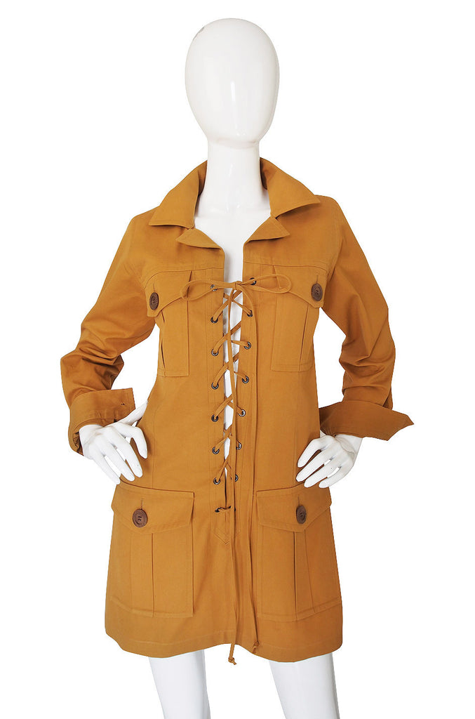 1980s Yves Saint Laurent Safari Tunic Dress
