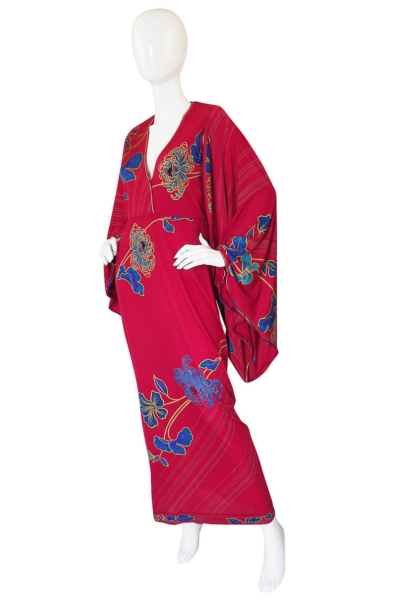 1982 Leonard Angel Sleeve Caftan Dress
