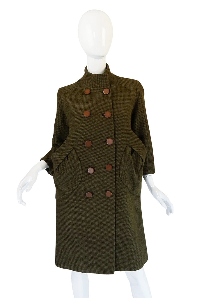"1950s Jacques Heim ""Jeunes Filles"" Unusual Pocket Coat"