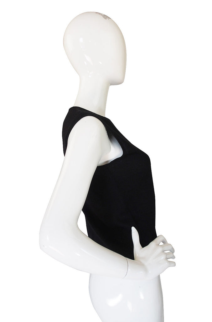 1990s Chanel Black Cashmere Shell Top