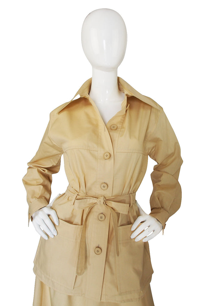 1970s Emanuel Ungaro Chic Safari Suit